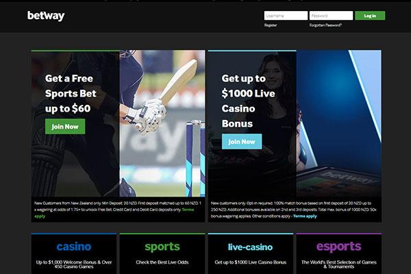 Betway casino NZ home