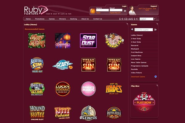 Ruby Fortune Slots