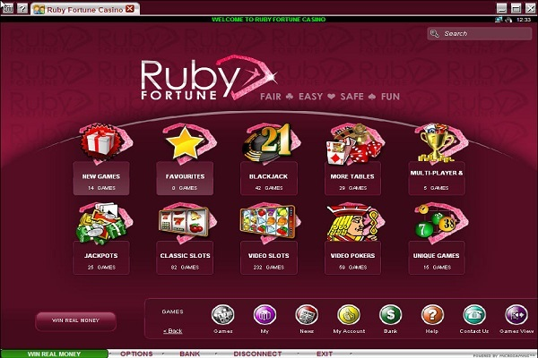 Ruby Fortune Software