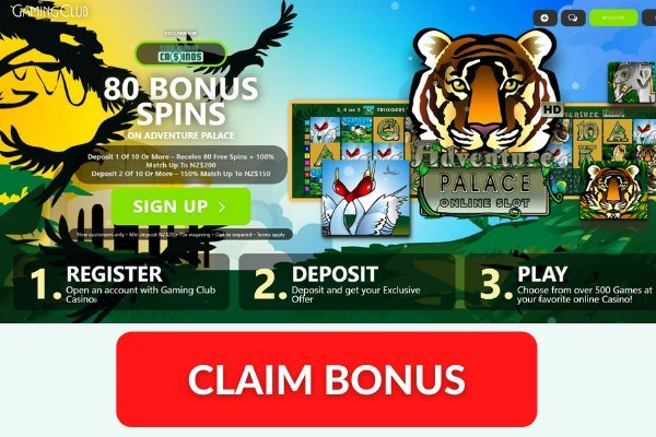 gaming club casino nz exclusive 80 free spins bonus