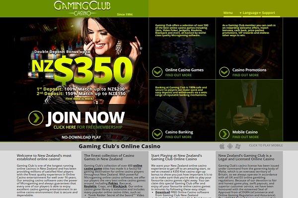 gaming club home screenshot