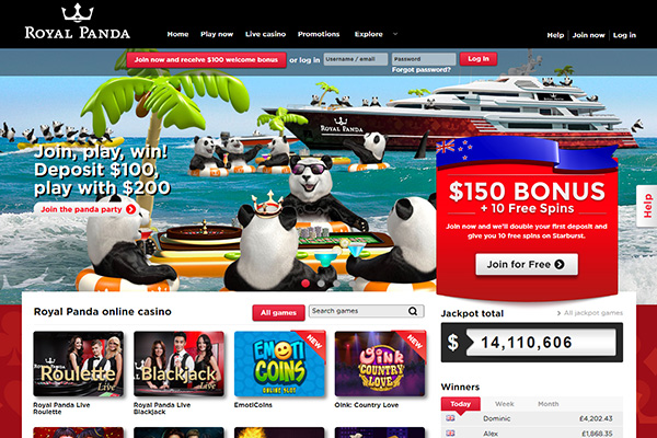 Royal Panda Screenshot home