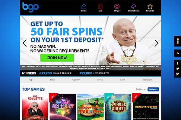 bgo casino NZ home