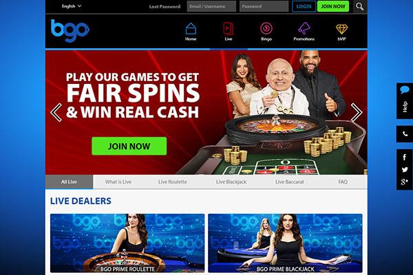 bgo NZ live dealer casino