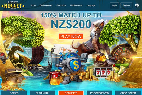 Lucky Nugget NZ home page