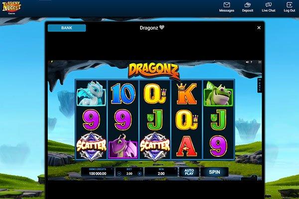 Lucky Nugget dragonz pokie