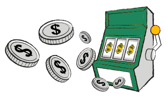 Slot Machine Paying Out