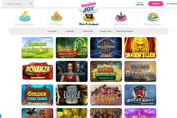 Casino Joy Casino games