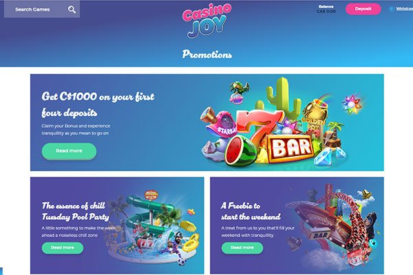 Casino Joy promotions