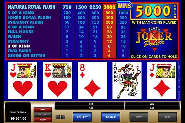 Joker Poker Power Poker paytable