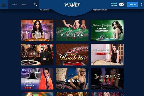 casino planet live games