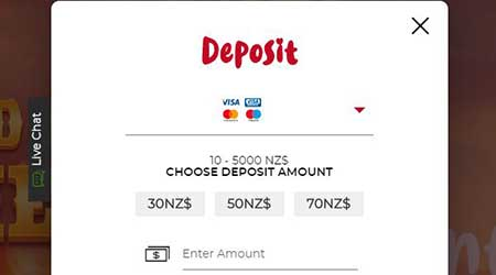 Casino Deposit in NZD