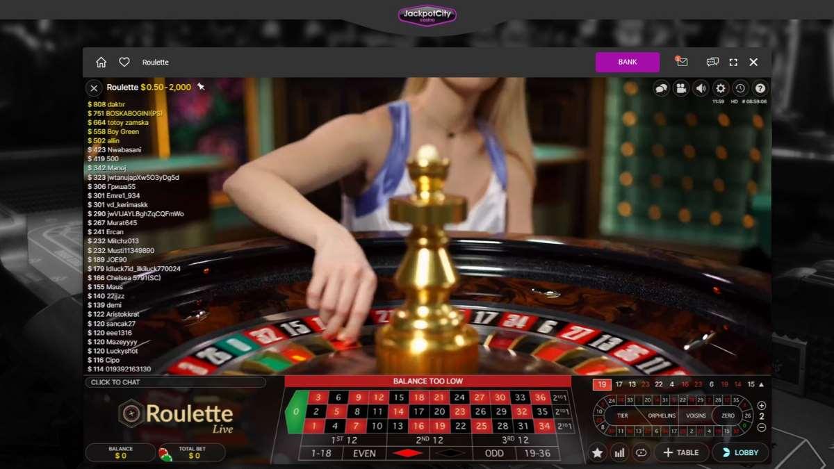 live roulette jackpot city