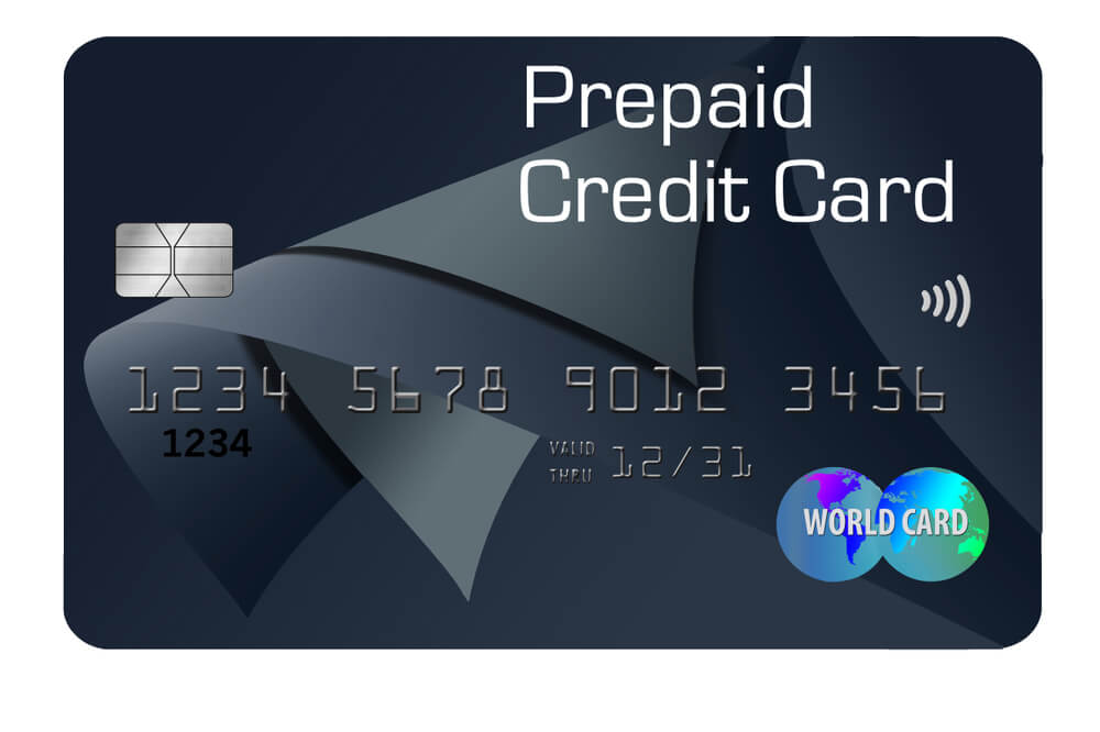 Example of a prepaid credit card