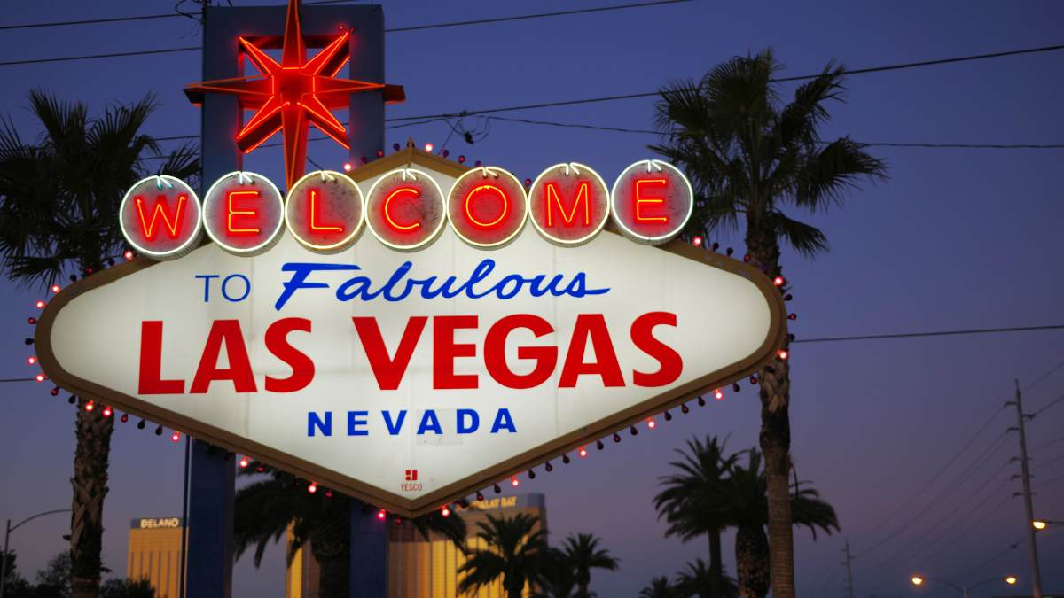 """The Las Vegas welcome sign saying """"Welcome to Fabulous Las Vegas Nevada"""""""