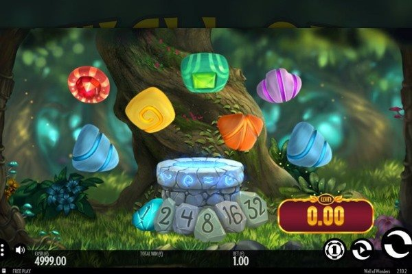 Screenshot of Well of Wonders slot game by thunderkick gaming