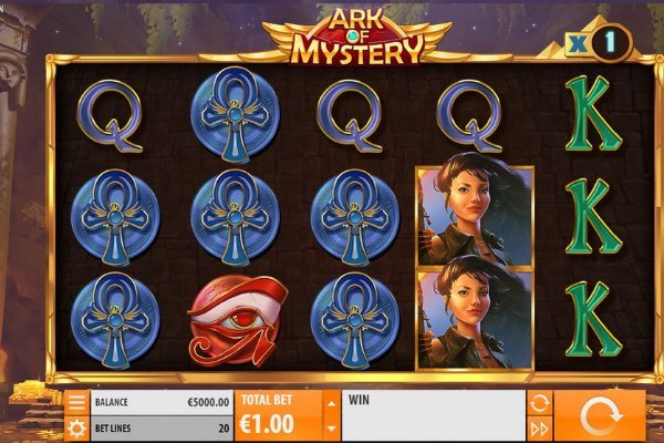 screenshot of the Ark of Mystery slot by Quickspin Gaming