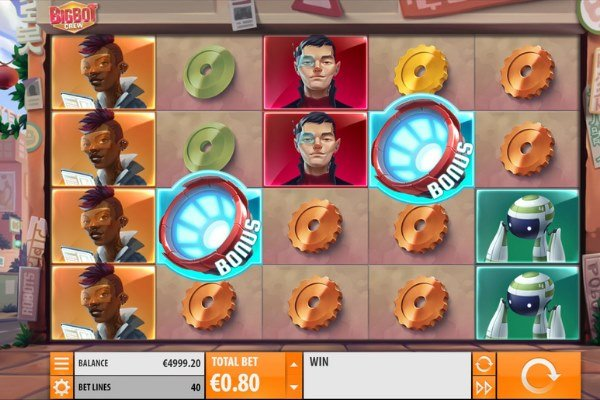 screenshot of the Big Bot Crew slot game