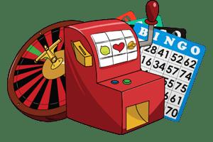 Pokie, Roulette, Bingo