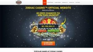 Zodiac $1 deposit